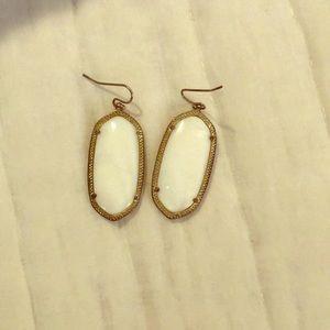 Small white Kendra Scott earrings